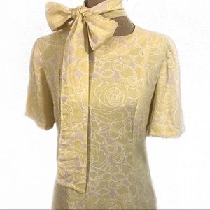 Vintage homemade yellow roses dress
